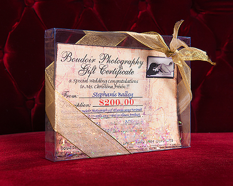The New Boudoir Photography of Atlanta Gift Certificate